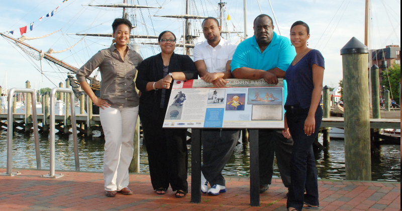 Fort Valley State University's agricultural communications staff members pose in Annapolis, Maryland